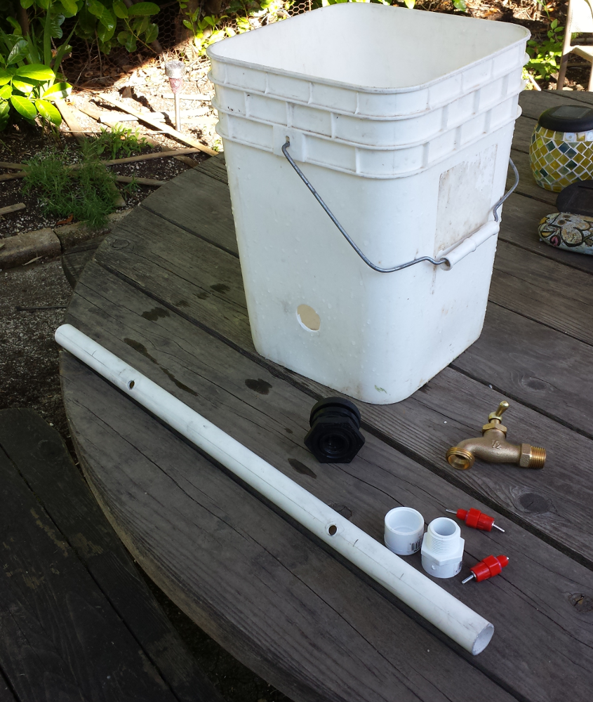 Gravity Fed Diy Chicken Waterer